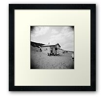 Lifeguard Station, Sea Palling, Norfolk Framed Print