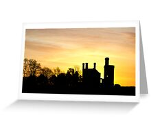 Haverholme Priory Silhouetted by Sunrise 2 Greeting Card