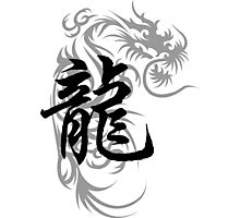Chinese Zodiac Dragon Symbol Photographic Print