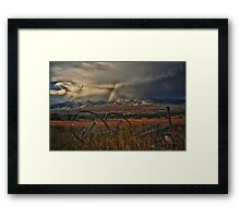 Fishing the Yellowstone River Framed Print