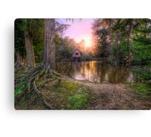 Old Mill & Lake Sunset Canvas Print