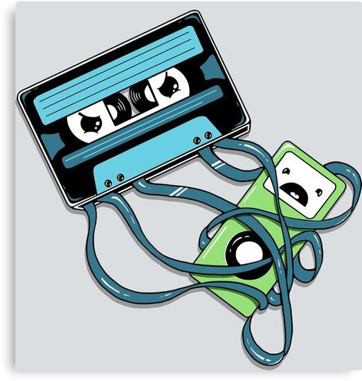 The Comeback   Retro Music Cassette Vs iPod by BootsBoots