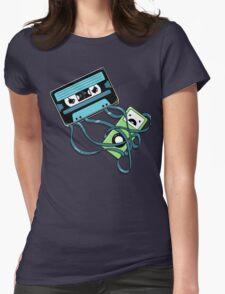 The Comeback   Retro Music Cassette Vs iPod Womens Fitted T-Shirt