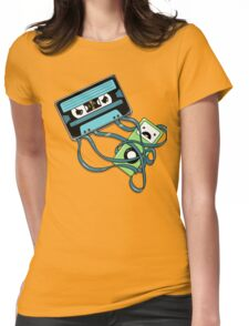 The Comeback | Retro Music Cassette Vs iPod Womens Fitted T-Shirt