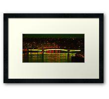 Wandsworth Bridge at Night - A Golden Gate  Framed Print