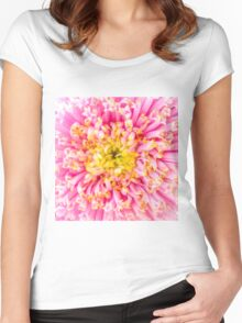 Pink & Yellow Women's Fitted Scoop T-Shirt