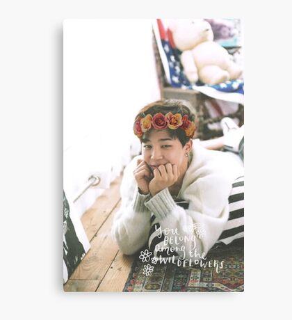 Park Jimin (BTS) - Flower Crown Canvas Print