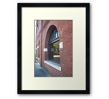 Explore the country in the window Framed Print
