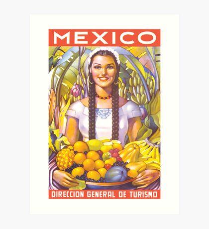 Mexico Travel Poster 2 Art Print