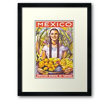 Mexico Travel Poster 2 Framed Print