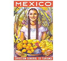 Mexico Travel Poster 2 Photographic Print