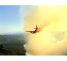 Tanker 44 Drops Retardant on the Promontory Fire Photographic Print
