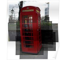 A red phone booth Poster