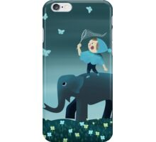 Catching butterfly iPhone Case/Skin