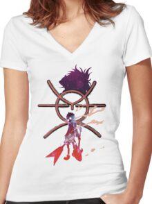 FLCL - Naota/Atomsk Women's Fitted V-Neck T-Shirt