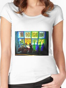 Colourful Light Women's Fitted Scoop T-Shirt