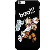 Calvin Scaried by Little Cute Ghost iPhone Case/Skin