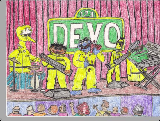 Devo Sesame Street by DrewSomervell