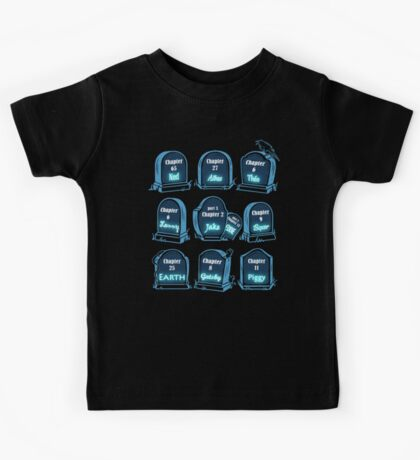 Spoiler Graveyard | Literary Characters Who Die in their Books Kids Tee
