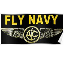 Navy Aircrew Wings for Dark Colors Poster