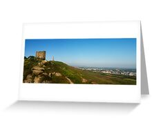 A panoramic of Carn Brea hill Greeting Card