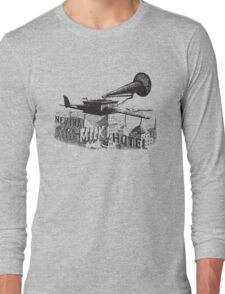 in the aeroplane over the sea Long Sleeve T-Shirt