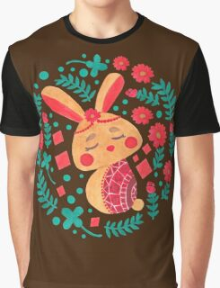 Spring Easter Bunny Graphic T-Shirt
