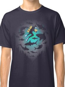 Screwed | Funny Shark and Diver Illustration Classic T-Shirt