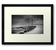 At the end Framed Print