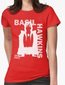 Supernova Basil Hawkins Vector WHITE Womens Fitted T-Shirt