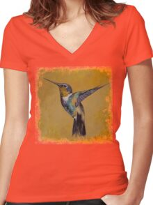 Hummingbird Women's Fitted V-Neck T-Shirt