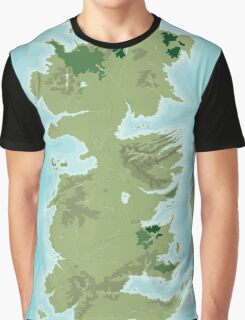 Topographic Map of Westeros Graphic T-Shirt