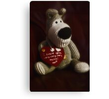 Boofle love Canvas Print