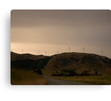 The power of wind - White Hill - South Island - New Zealand Canvas Print