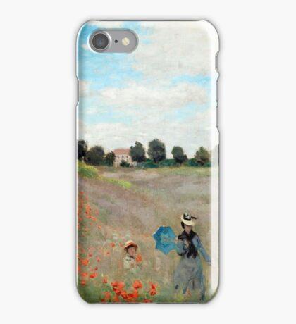 Poppy Field - Claude Monet - 1873 iPhone Case/Skin