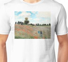 Poppy Field - Claude Monet - 1873 Unisex T-Shirt