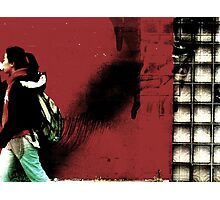 Urban Woman and Red Photographic Print