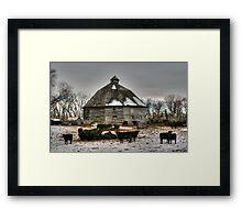 10 Sided Barn Framed Print