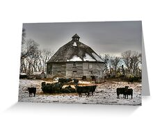 10 Sided Barn Greeting Card