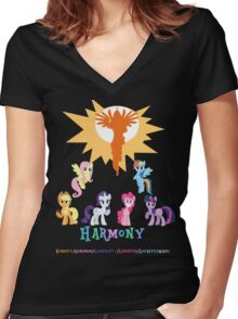Harmony Women's Fitted V-Neck T-Shirt