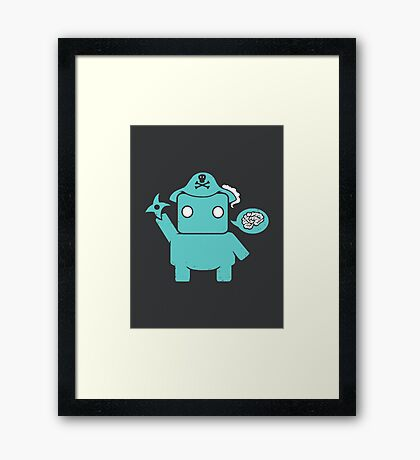 Ninja, Pirate, Robot, Zombie | Cute Geek Character Framed Print