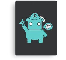 Ninja, Pirate, Robot, Zombie | Cute Geek Character Canvas Print