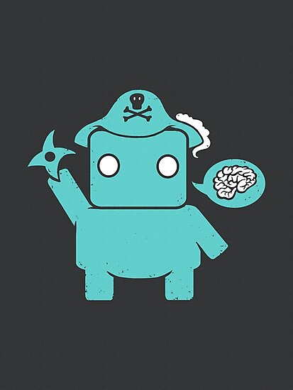 Ninja, Pirate, Robot, Zombie   Cute Geek Character by BootsBoots