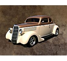 1935 Ford Custom Coupe Hot Rod Photographic Print