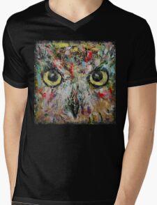 Mystic Owl Mens V-Neck T-Shirt