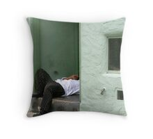 Cell Phone Moment Throw Pillow