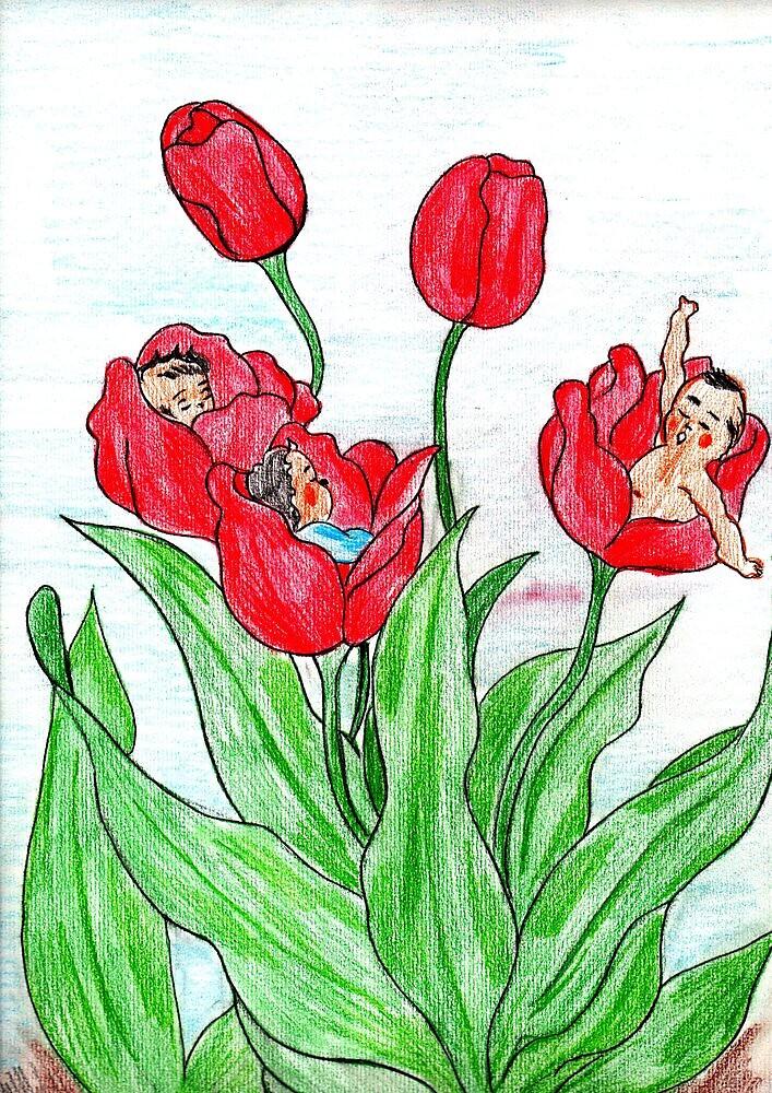 Tulips Borned  Fairies  by Kittycat10