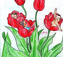 Tulips Borned  Fairies  by Kittycat10