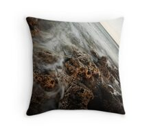 Seascape with magnesian limestone Throw Pillow