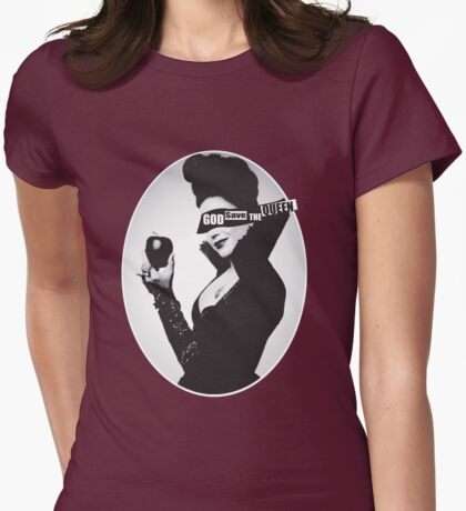 God Save the (Evil) Queen Womens Fitted T-Shirt